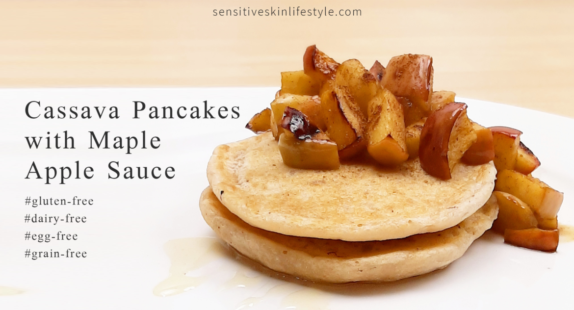 Cassava Pancakes with Maple Apple Sauce (GF, V, NF)