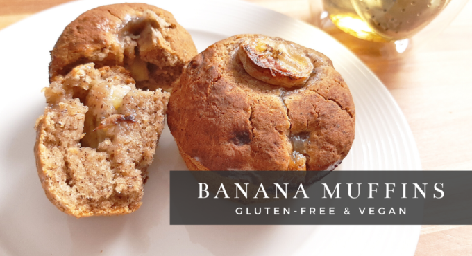 photo of my gluten-free vegan moist banana muffins