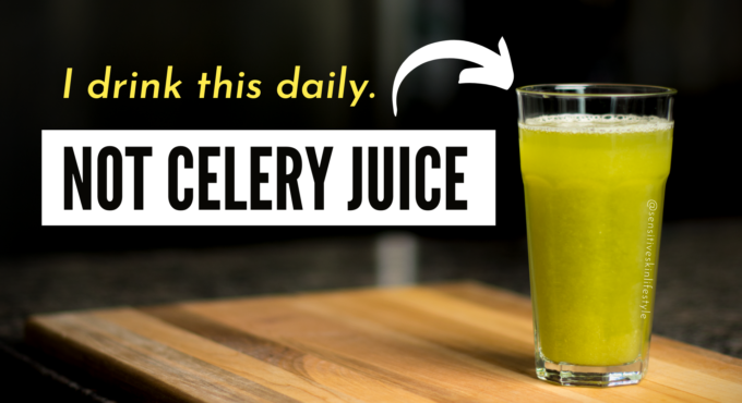 my daily celery drink - not celery juice