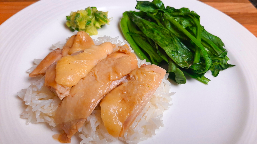 My easy hainanese chicken rice ready to serve!