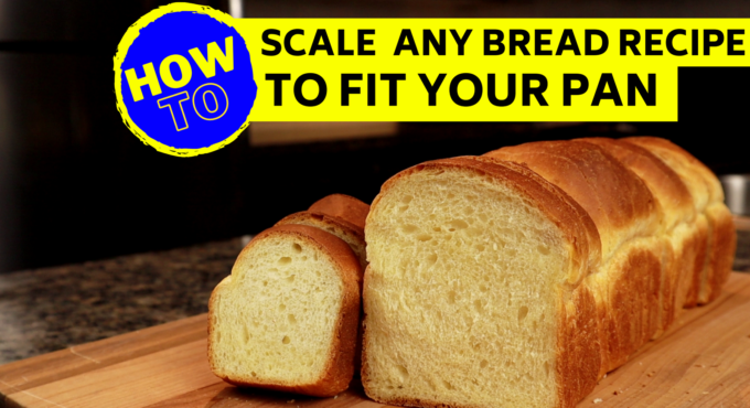 Photo that shows the same bread recipe baked in two drastically different sizes